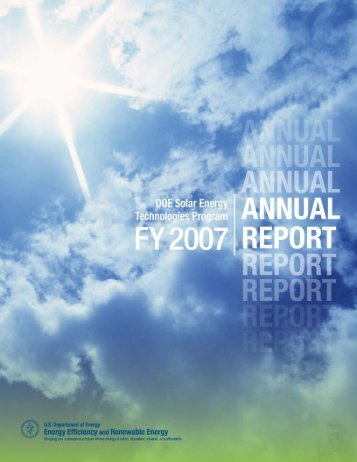 DOE Solar Energy Technologies Program FY 2007 Annual Report