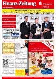Finanz-Zeitung der Sparkasse Hanau - Ausgabe März 2011