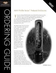 MAH Profile Series Pedestal Enclosures - Channell Commercial ...