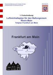 Luftreinhalteplan für den Ballungsraum Rhein-Main, Teilplan Frankfurt