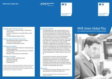 MVB Union Global Plus - Mainzer Volksbank eG