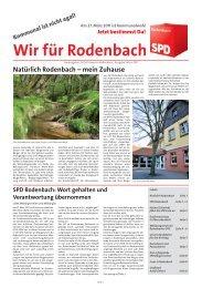 Natürlich Rodenbach – mein Zuhause - SPD Ortsverein Rodenbach