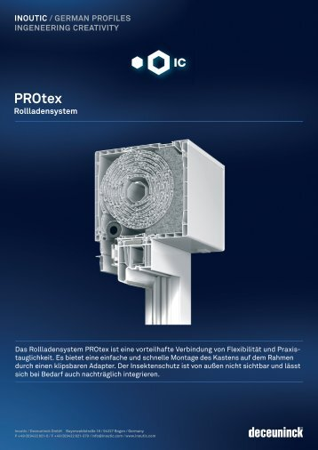 Rollladensystem-PROtex - Heinze GmbH