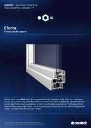 Eforte Fensterprofilsystem - Laabertaler
