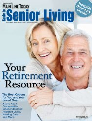 Guide To Senior Living - Main Line Today