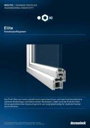 Elite Fensterprofilsystem - Fensterbau Rentschler