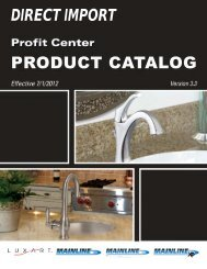 DIRECT IMPORT PRODUCT CATALOG - Hughes Supply