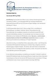 PM Internationaler MPS-Tag 2012 - Gesellschaft für ...