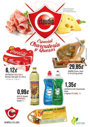 Folleto Supermercados Claudio del 22 de Junio al 5 de Julio 2017