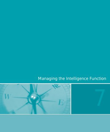 Managing the Intelligence Function - Federation of American Scientists