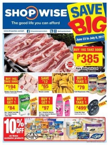 SHOPWISE SAVE BIG CATALOG ends July 6, 2017