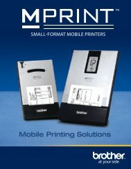 SMALL-FORMAT MOBILE PRINTERS - Brother