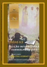 1ª Lição Intermediária - EVANGELHO DE JOÃO verso a verso