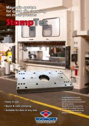 StampTec Magnetic system for quick die clamping on metal presses ...