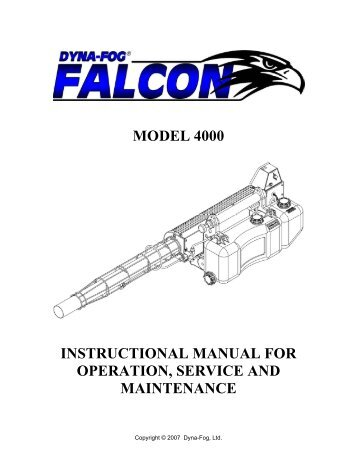Model 4000 Instructional Manual For Operation ...   Servytrading
