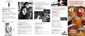 kulturgenuss an besonderen Orten Januar - Juli 2011 - vhs Main ...