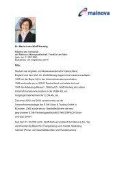 Lebenslauf Dr. Wolff-Hertwig zum Download (pdf | 0 - Mainova AG
