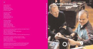 Marketing/touring NO TABS - Arts Council England