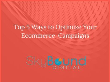 Top 5 Ways to Optimize Your Ecommerce Campaigns