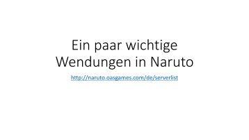 Ein paar wichtige Wendungen in Naruto