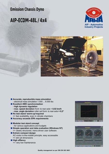 Emission Chassis Dyno AIP-ECDM-48L / 4x4 - MAHA-AIP