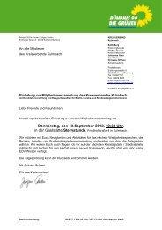 Donnerstag, den 13.September 2012, 19:30 Uhr, - Grüner ...