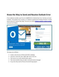 Know the Way to Send and Receive Outlook Error