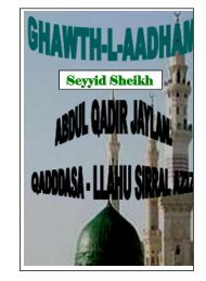 Seyyid Sheikh Abdul Qadir Jaylan - Al-Faqeer