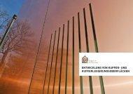 Entwicklung von Kupfer- und Kupferlegierungsoberflächen in der Architektur