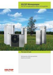 SOLTOP Wärmepumpen Planungsunterlagen