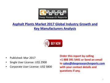 Global Asphalt Plants Industry Growth Analysis and 2022 Market Outlook