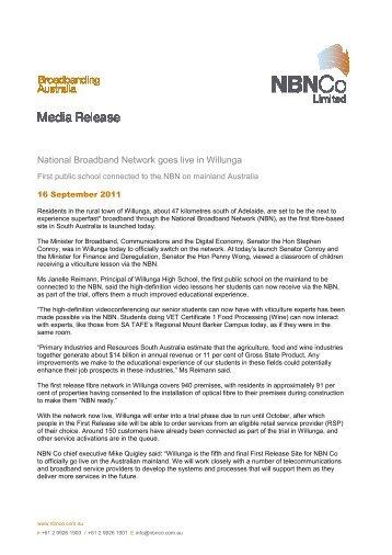 Media Release - NBN Co