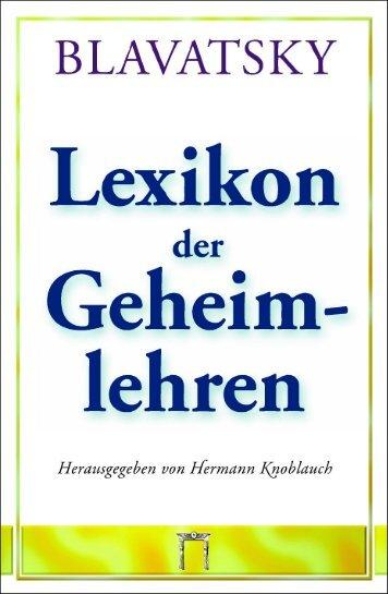 Lexikon der Geheimlehren (Blavatsky) - Leseprobe