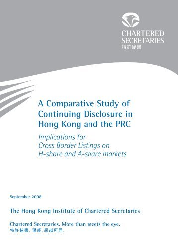 A Comparative Study of Continuing Disclosure in Hong Kong and ...