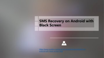 SMS Recovery on Android with Black Screen