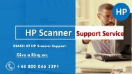 HP Scanner Support Number