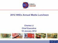 2012 HKEx Annual Media Luncheon - Hong Kong Exchanges and ...