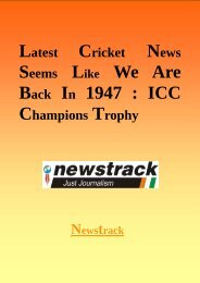 Latest Cricket News Seems Like We Are Back In 1947 - ICC Champions Trophy