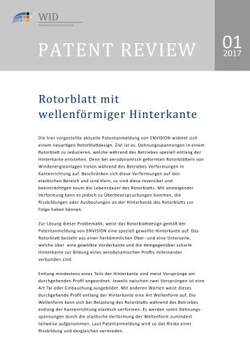 Patent Review 01/2017