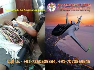 Panchmukhi Emergency Medical Air Ambulance Services from Bhopal to Mumbai