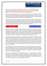 Biocontrol Agents    Market   2024 Analyzed in New Research Report