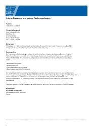 Interne Steuerung und externe Rechnungslegung - zeb/rolfes ...