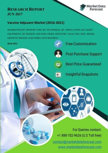 Analyzing the trends and forecasting Global Vaccine Adjuvant Market (2016-2021)