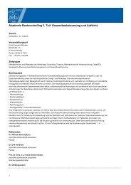 Akademie Bankcontrolling 3. Teil: Gesamtbanksteuerung und Aufsicht