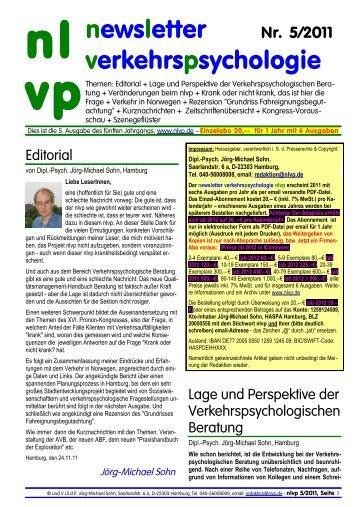 05/2011 - newsletter verkehrspsychologie