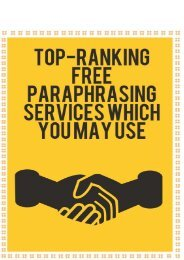 Top-Ranking Free Paraphrasing Service that You May Use