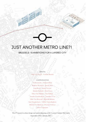 Just another metroline?! Brussels: 19 Ambitions for a layered city