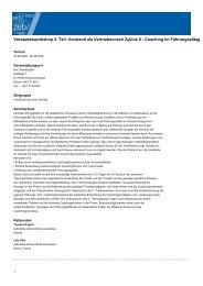 Vorstand als Vertriebscoach Zyklus II - Coaching im Führungsalltag