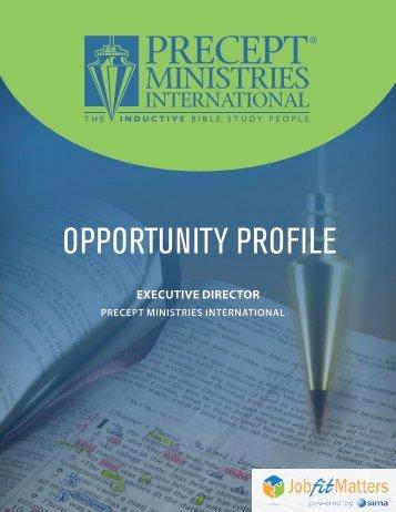 Precept Ministries International - Executive Director