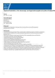 Akademie Kreditrisiko 4. Teil: Umsetzungs- und  Organisationsaspekte
